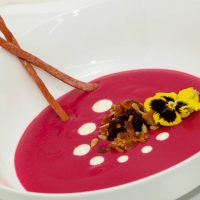 Newmans Restaurant Chilled Beet Soup